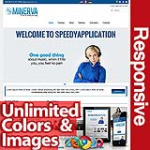 Minerva Cool Blue - Unlimited Colors, Images, Layouts - 5 Free Modules - Responsive Skin Mobile
